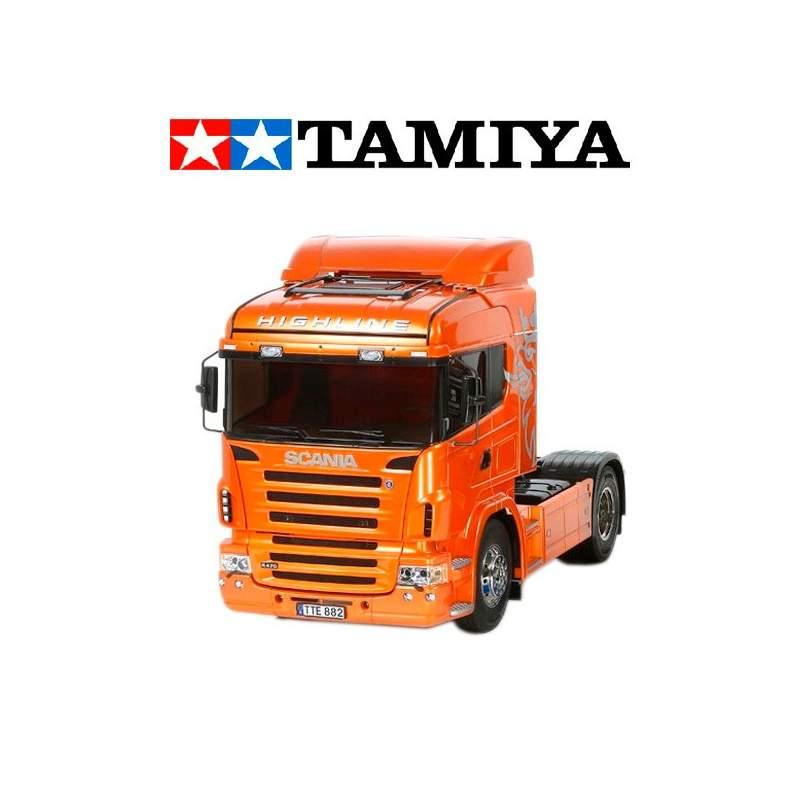 camion rc scania r470 highline 1 14 edicion naranja kit. Black Bedroom Furniture Sets. Home Design Ideas