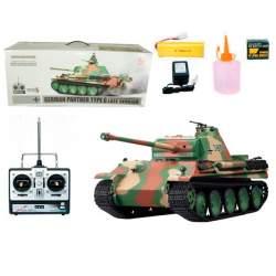 Tanque rc German Panther Tipo G Heng Long con disparo y humo