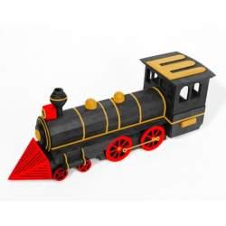 Locomotora, maqueta Artymon en madera para montar, Keranova