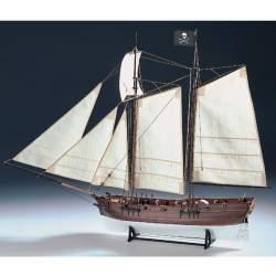 Maqueta naval Barco Pirata Adventure 1:60 78cm Amati Modelismo