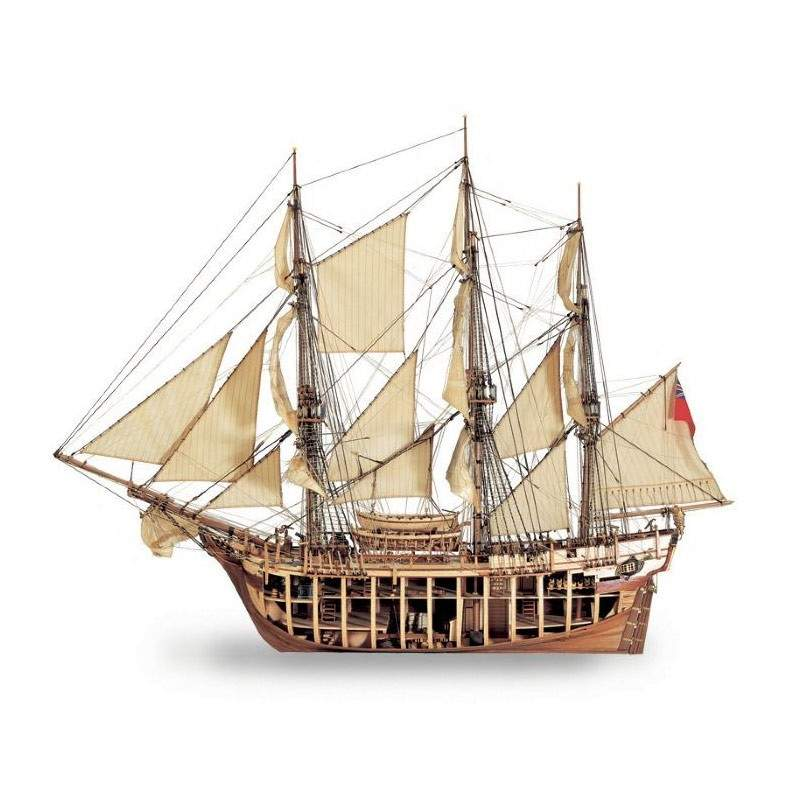 maqueta naval h m s bounty 1783 1 35. Black Bedroom Furniture Sets. Home Design Ideas