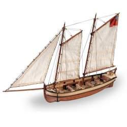 Hms Endeavour lancha del capitan maqueta naval Artesania Latina