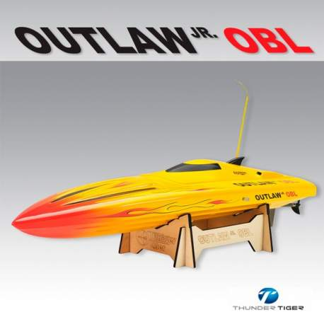Lancha Outlaw JR OBL RTR Brushless 2.4 Ghz amarilla Thunder Tiger