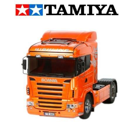 Camion rc Scania R470 HighLine 1:14 Edicion naranja kit para montar Tamiya