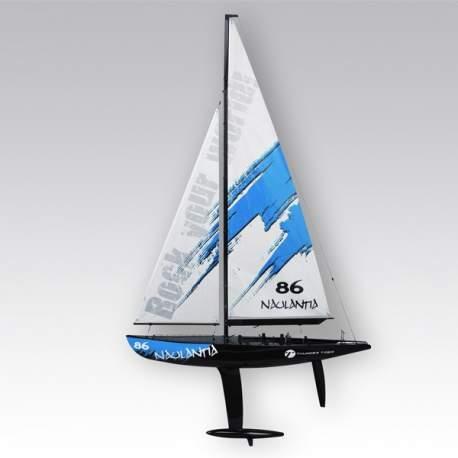 Thunder Tiger Naulantia Azul COMBO 2,4 Ghz velero rc de 1 m de vela