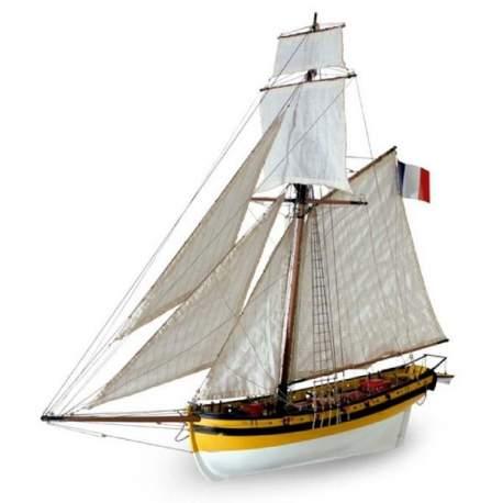 Maqueta naval Le Renard Balandro Corsario 1 / 50 Artesania Latina
