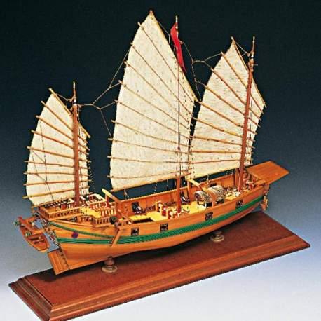 Maqueta naval Junco Pirata Chino 1:100 Amati Modelismo