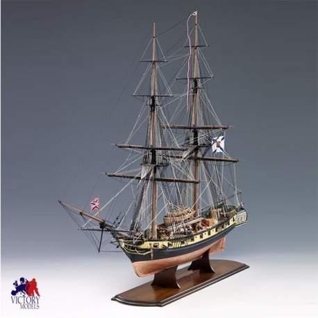 Maqueta naval Mercucry Russian Brig 1820 1.64 Amati Modelismo