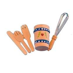 Accesorios de cocina para casa de muñecas