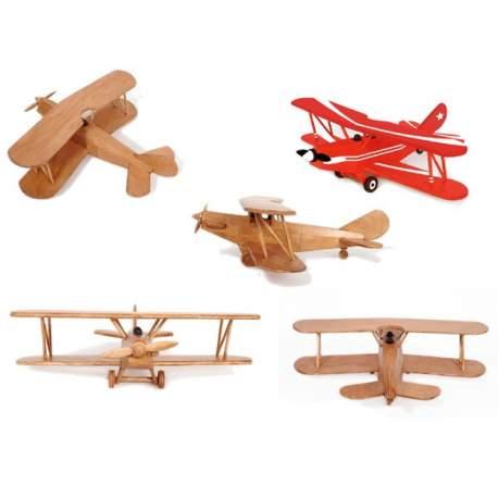 Avion biplano, maqueta Artymon en madera para montar, Keranova