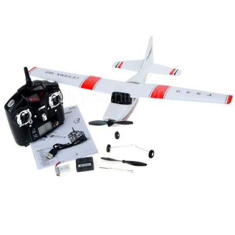 Mini avion Cessna Wltoys F949 2.4G 3 canales RC electrico