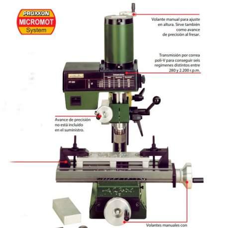 Fresadora de precisión FF 230 Proxxon