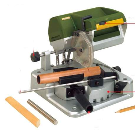 Sierra para cortar ingletes/sierra retestadora KGS 80 Proxxon