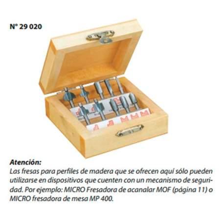 Juego de 10 fresas buriladoras para madera Proxxon MT-300