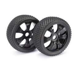 "Ruedas Wheel Set LP Buggy ""Dirt"" black 1:8 (2 pcs)"