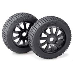 "Ruedas Set Buggy ""Razor"" 10 Spokes/Dirt black 1:8"