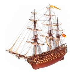Maqueta naval Santisima Trinidad, navío 1:90
