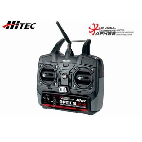 HITEC EMISORA OPTIC-5 2.4 GHZ con tecnolocgía AFHSS