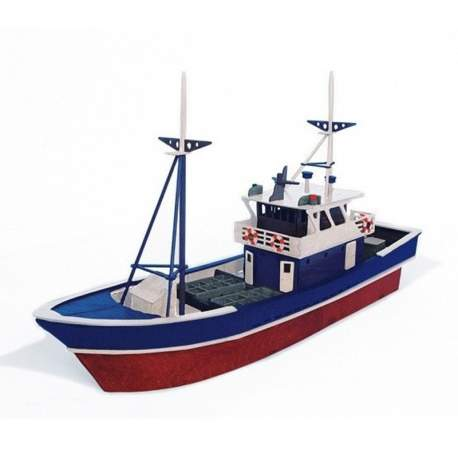Maqueta Barco Pesquero kits en construccion en madera de haya Keranova