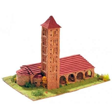 Maqueta Iglesia de Santa Eulalia de Erill La Vall Keranova en kits de construccion en ceramica