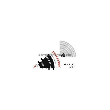 Borde exterior curva interior Ninco (6 unidades)