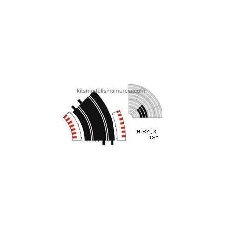 Borde exterior curva estandar Ninco (6 unidades)