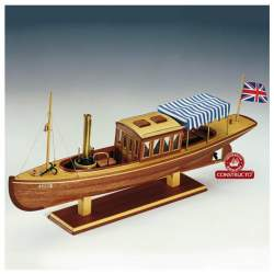 Maqueta naval Louise, barco a vapor 1:20