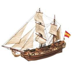 Maqueta naval La Candelaria Bombarda 1:85