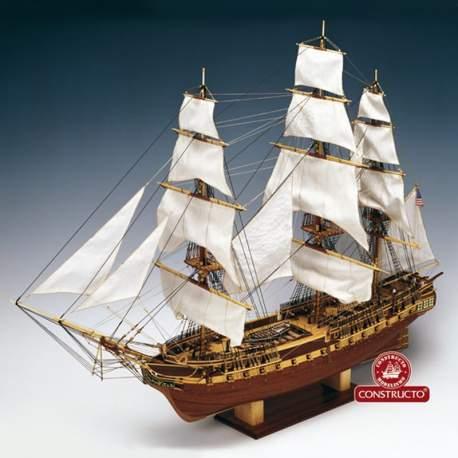 Maqueta naval U.S.S. Constitution 1:82