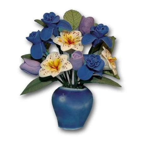 Jarrón con flores 1:12