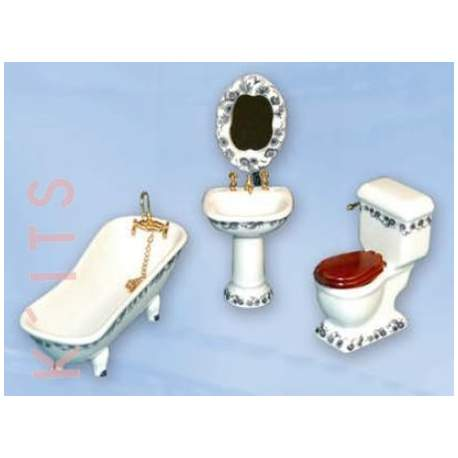 Baño porcelana Celestina 1:12