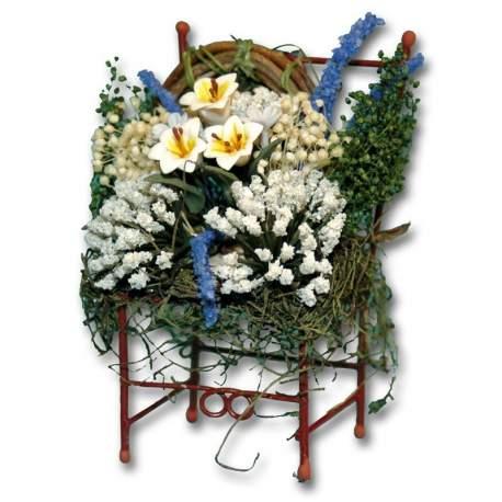 Silla con flores 1:12