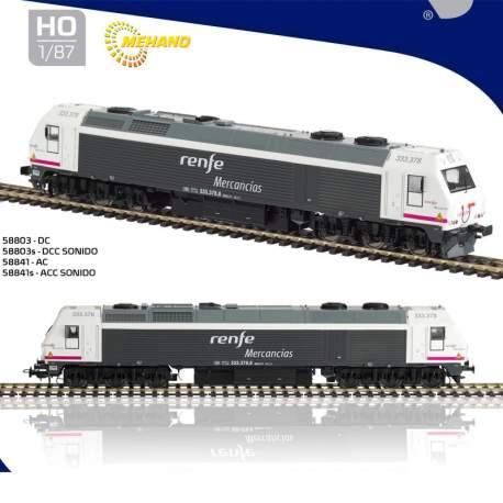 "Locomotora 333 Renfe Mercancias 333.378 ""Gancho de tracción reforzado"" 58803 Version DC escala H0 Mehano"