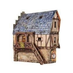 Puzzle 3d escuela. Serie poblado medieval. Clever 14330