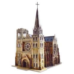 Puzzle 3d Catedral Gótica. Kit para ensamblar. Clever 14330