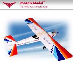 Combo Avion entrenador Classic 46 - 55 entrenador PH002 + motor Thunder Tiger GP 42 + Emisora Flash 7 2.4 Ghz C/RX Optima 7