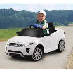 Coche con bateria y mando para padres Land Rover Evoque blanco 27Mhz Jamara