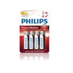 Pila alcalina AA Philips (4 unidades) PLR06E