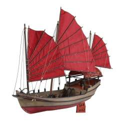 Maqueta naval Junco Chino 1:50 kit para montar en madera y metal (DISARMODEL)