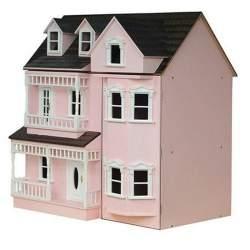 Casa d muñecas rosa para montar