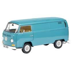 Furgoneta Volkswagen VW T2 1967-2017, Schuco, azul, escala 1/18