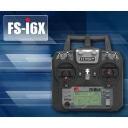 Emisora + Receptor FlySky FS-i6x + A6B