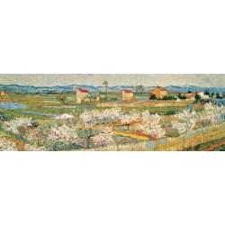 Puzzle 2000 Piezas Pechers en Fleurs Peach Blossoms serie panorama Ricordi