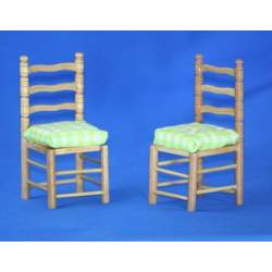 Dos sillas con cojin