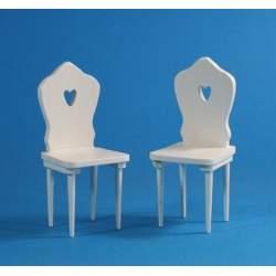 sillas de los 80 lacadas en blanco