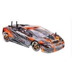 Coche rc gasolina 1/10 SONIC 4WD Naranja carbono