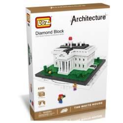 Kit de construccion miniaturizada Casa Blanca Loz 1170 piezas