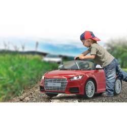 Coche con bateria y mando para padres Rideon Audi TTS Roadster red 2,4GHz Jamara