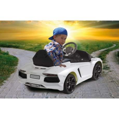 Coche con bateria y mando para padres Ride-on Lamborghini Aventador white Jamara
