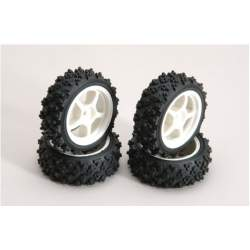 Neumaticos Ripmax White Wheel w/Spike Tyre Pk4
